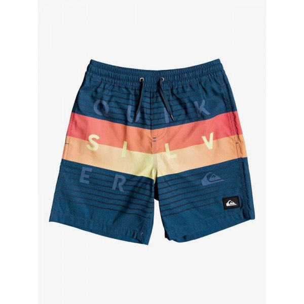 Quiksilver Word Block Majolica Blue Volley short boy 2020