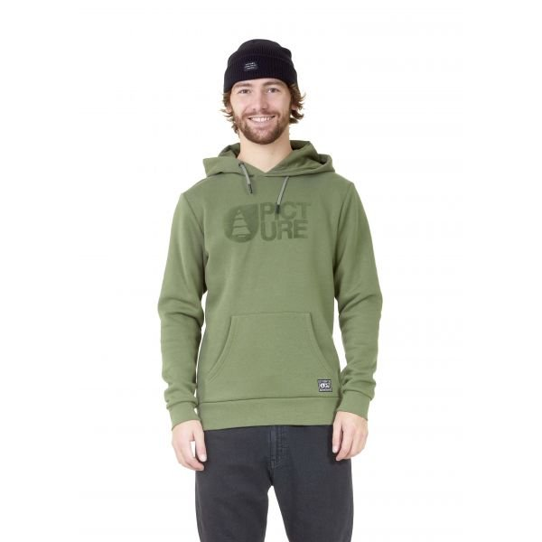 Picture Basement Flock Hoodie Army Green Sweat 2021