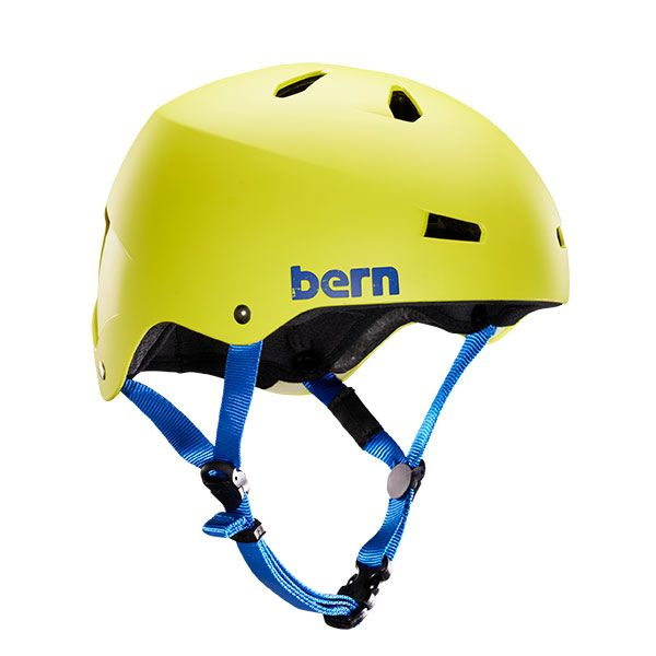 Bern Macon H2O Matte Neon Yellow Casque de wake/kite 2018