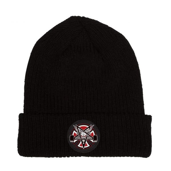 Thrasher x Independent Pentagram Cross Black Bonnet 2019