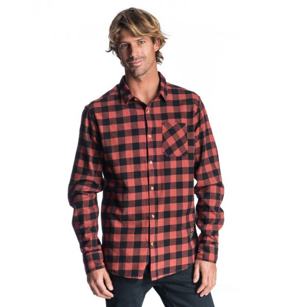 Rip-Curl CHECK IT LS SHIRT ROUGE Chemise 2019