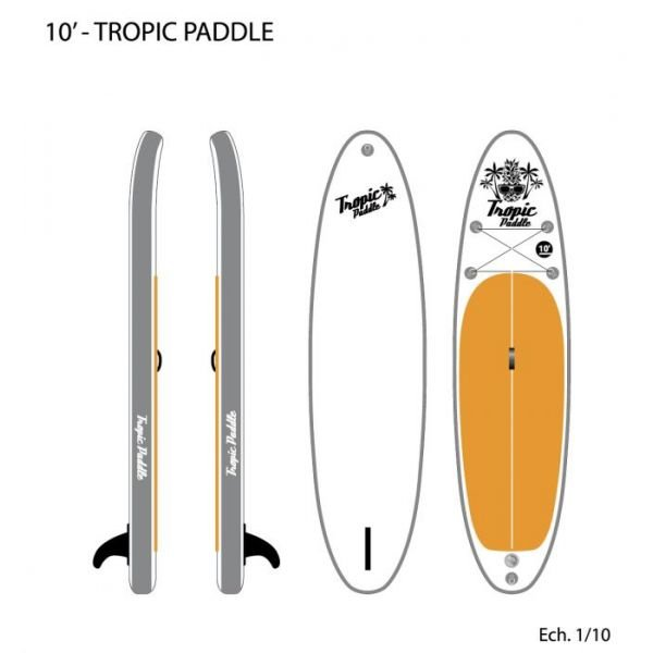 Surfpistols Tropic Paddle 10' SUP 2019