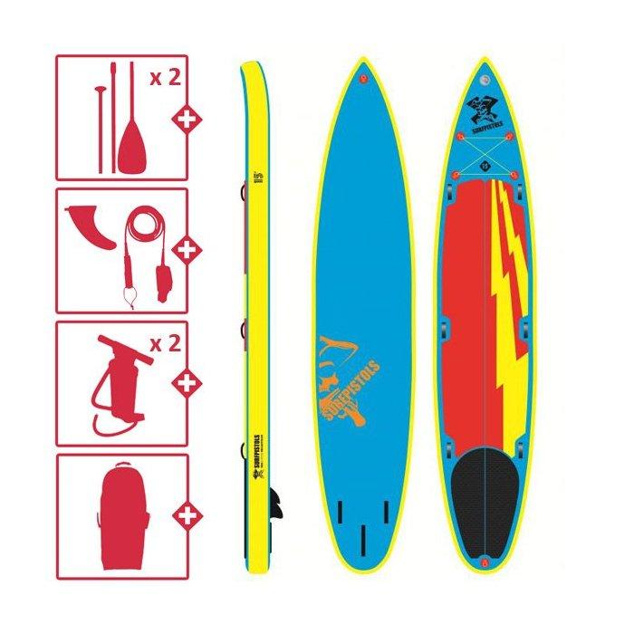 Pack complet Surfpistols Isup 15' tandem SUP 2021