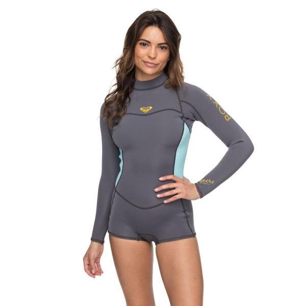 Roxy 2/2 mm Syncro series back zip Deep grey combinaison néoprène 2019