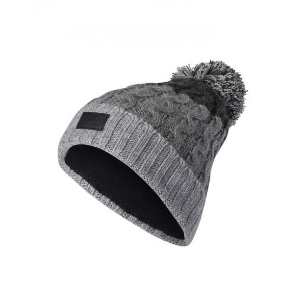 Rip-Curl Wool Pompom Steel Grey Bonnet
