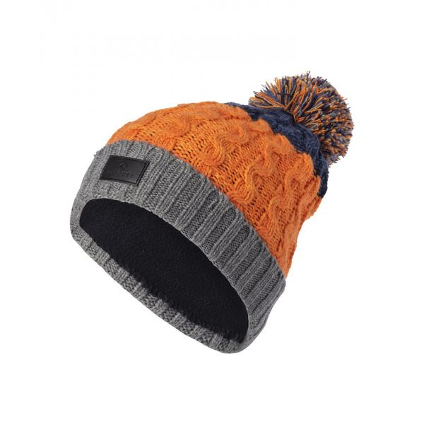 Rip-Curl Wool Pompom Persimmon Orange Bonnet