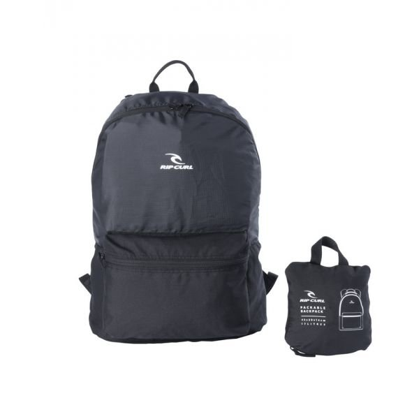 Rip-Curl Packable Backpack Black Sac à dos
