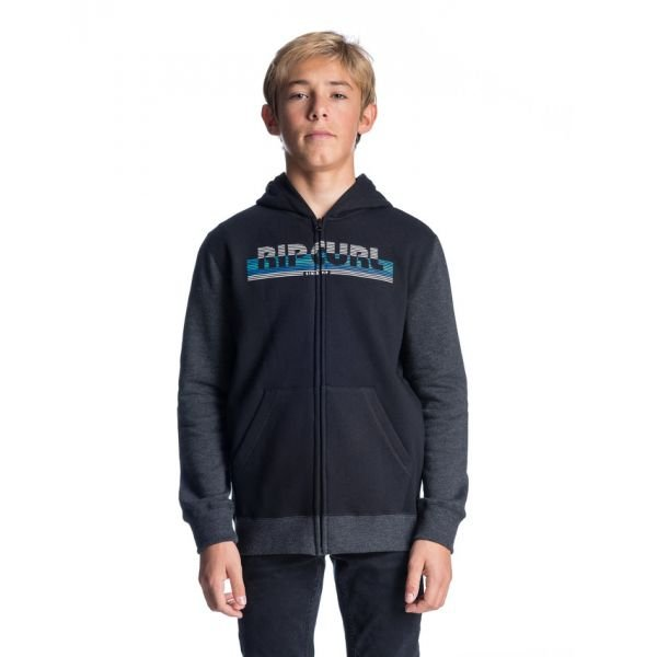 Rip-Curl Hey Mama Boy Hz Fleece Black Sweat zip enfant