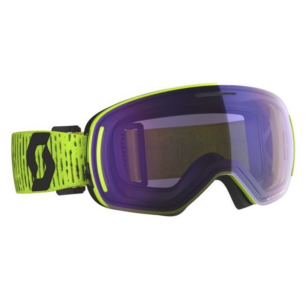 Scott LCG Evo LS yellow/light sensitive blue chrome Masque de ski 2020