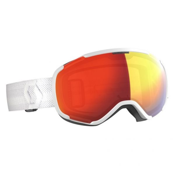 Scott Faze II LS white/light sensitive red chrome Masque de ski 2020