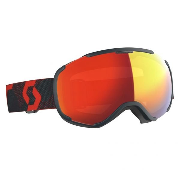 Scott Faze II LS blue nights/red/light sensitive red chrome Masque de ski 2020