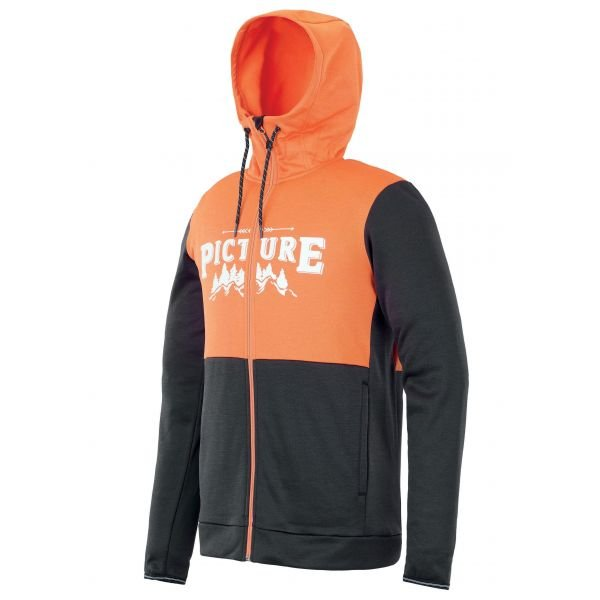 Picture BAXTER ZIP TECH SWEATER B Orange 2020