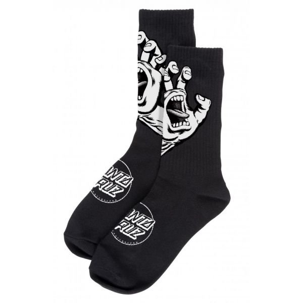 Santa Cruz Screaming Hand Mono Sock Black Chaussettes 2020